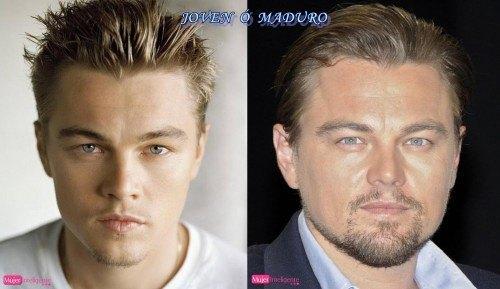 Leo Dicarpio chico y hombre - famosos antes y despues