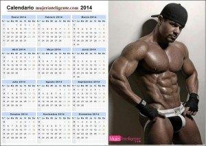 Calendario chicos guapo-2014 negro buen cuerpo