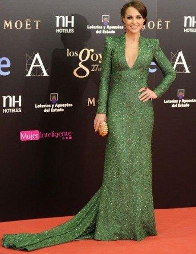 Mejor vestidas premios Goya 2013-paula echevarria