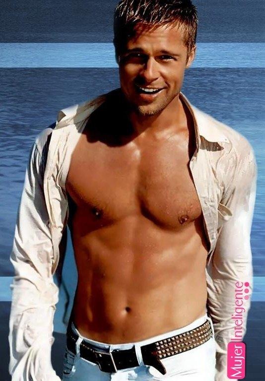 Brad Pitt Sin Camisa Mujer Inteligente