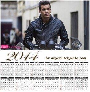 calendario 2014 hombres sexis Mario Casas en moto