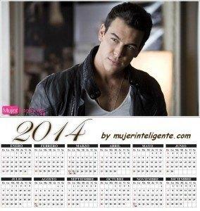 calendario 2014 hombres sexis Mario Casas
