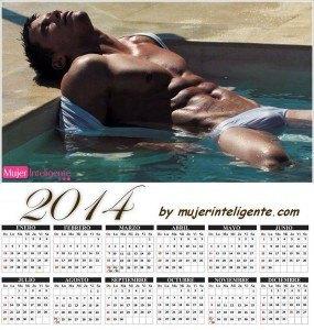 calendario 2014 con imagen hombre guapo