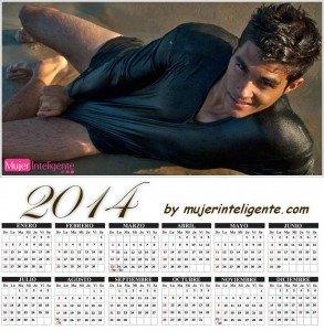 calendario 2014 hombres sexis moreno ojos azules