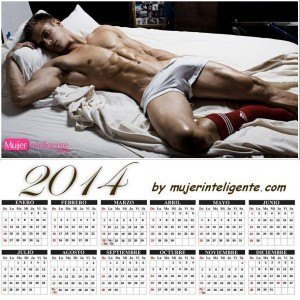 calendario 2014 con imagen rubio guapo