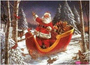 christmas santa claus images, navidad papa noel en trineo
