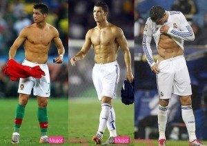 cristiano ronaldo futbolista sin camiseta
