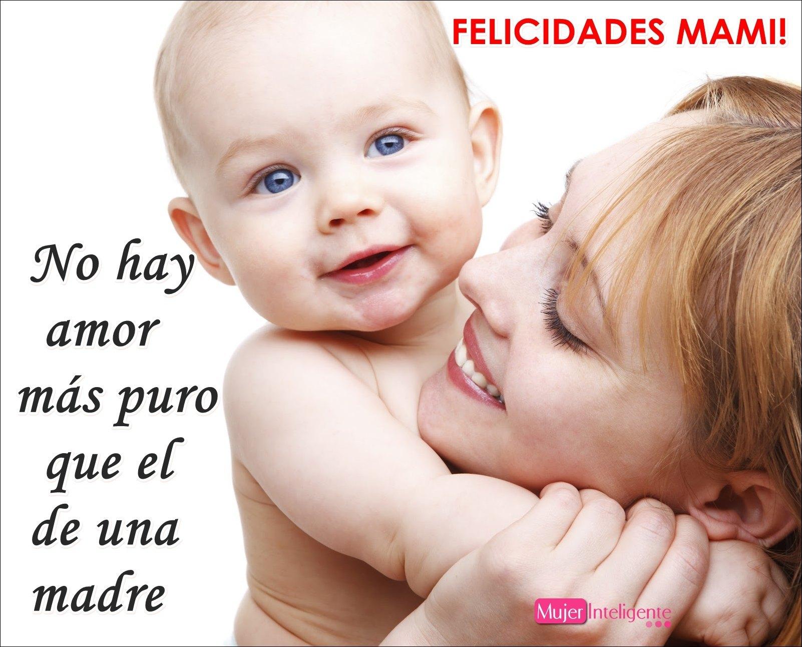 frase y felicitaci³n dia de la madre FELICIDADES madre e hijo