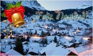 Postal navidad, paisaje navideño, foto invierno, año nuevo, felicitación navidad, y año nuevo 2016