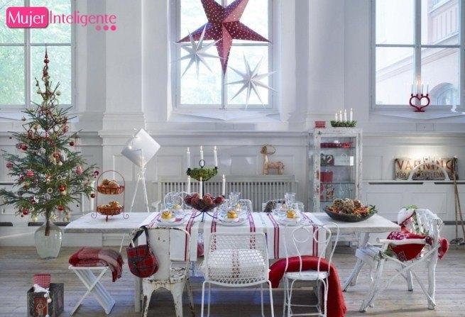 Mesas bonitas de navidad mujer inteligente - Adornos navidenos de mesa ...