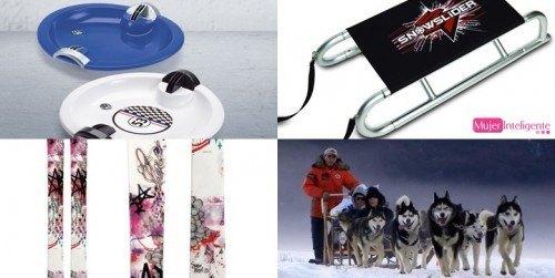 practicar deportes de invierno-trineos-skis