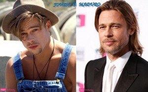 Brad Pitt chico y adulto o mayor, viejo