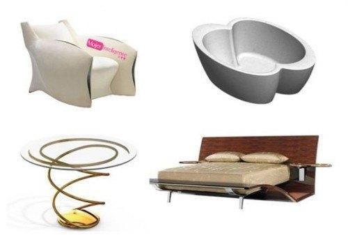 mobiliario Brad Pitt - muebles brad pitt