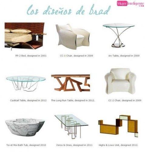mobiliario diseñado por Brad Pitt - muebles brad pitt
