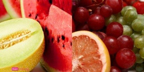 sandia y melon- uva. Alimentos imprescindibles para depurar tu cuerpo.