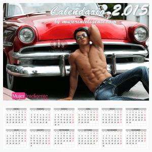 calendario 2015 moreno guapo marcando abdominales