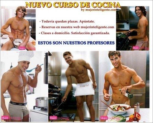 Curso de cocina profesores guapos y sexys