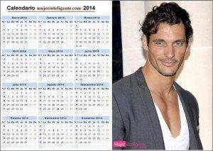 Calendario chicos guapo-2014 moreno ojos azules