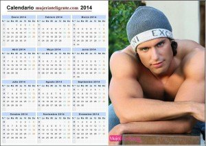 Calendario 2014 chico guapo ojos bonitos