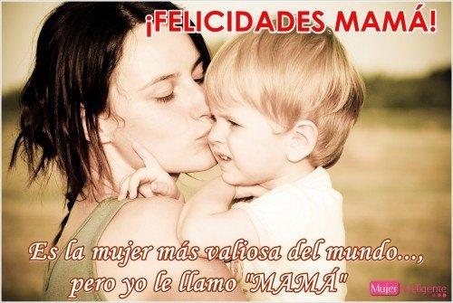 FELICITACIONES dia de la madre, foto con su hijo