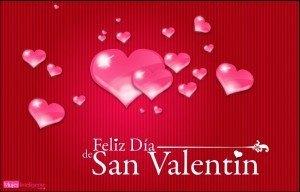 Feliz san valentin, tarjeta con imagenes dpara enamorados