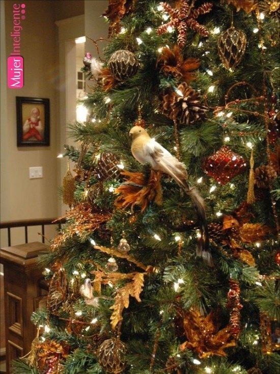 Decorar el rbol de navidad - Decorar pinas naturales ...