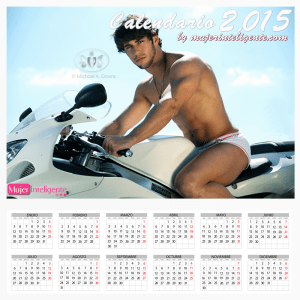 calendario 2015  chico guapo en moto