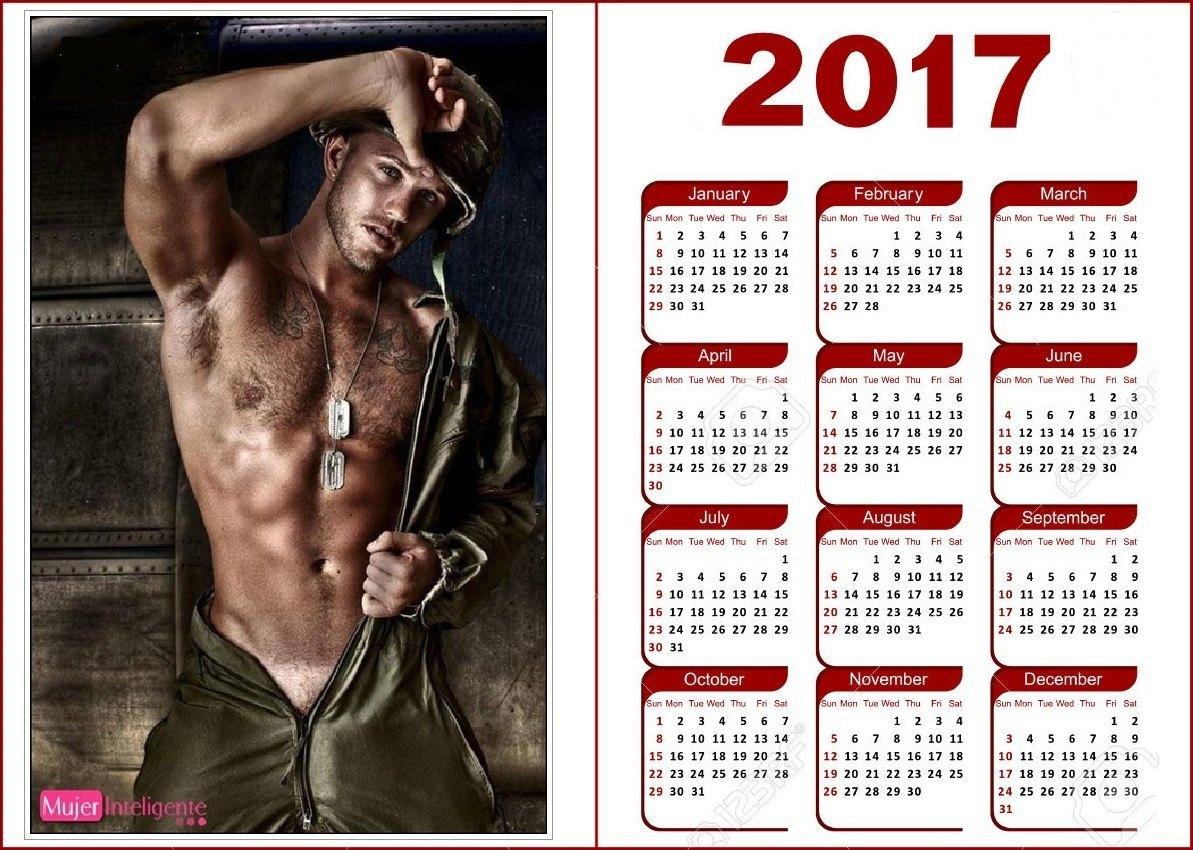 Calendario 2017 Chicos Guapos Mujer Inteligente
