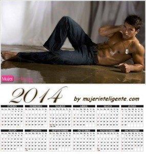 calendario 2014 hombres sexis moreno guapo