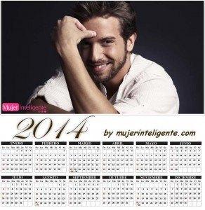 calendario 2014 con imagen Pablo Alborán