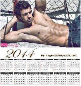 calendario 2014 hombres sexis chico moreno