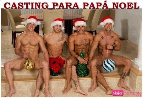 casting papa noel sexy felicitación Navidad 2017
