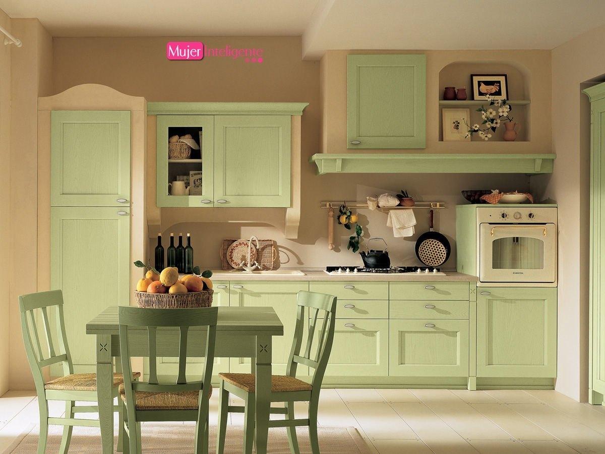 Cocinas pr cticas mujer inteligente - Muebles estilo rustico moderno ...