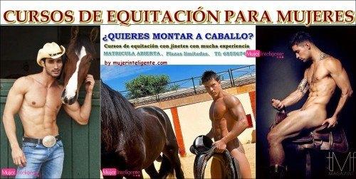 curso para aprender a montar a caballo con profesores guapos y sexys