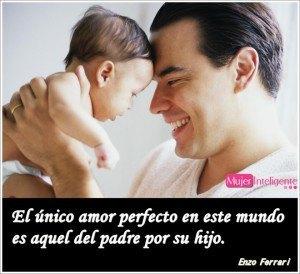 Foto padre y su bebé