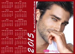 mujer inteligente calendario 2015 chico guapo ojos bonitos