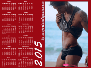 mujer inteligente calendario 2015 chico guapo foto provocativa