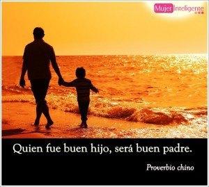 bonita foto felicitando el dia del padre con una frase