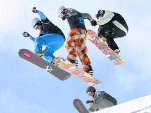 Practicar deportes de invierno